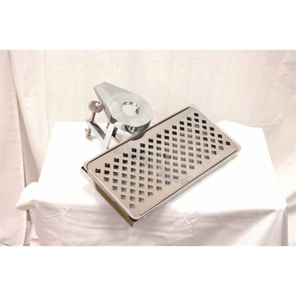 Deluxe clamp-on drip tray with drain