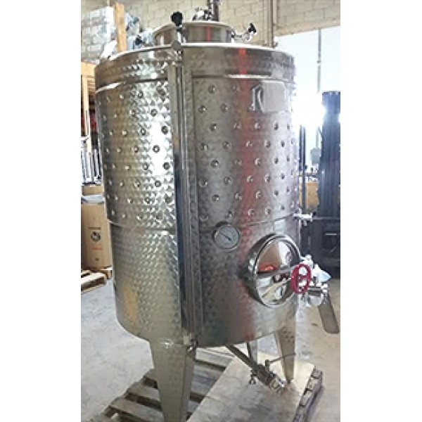 Tank - 1,000 Litre Fixed Lid Fermenter with cooling jacket