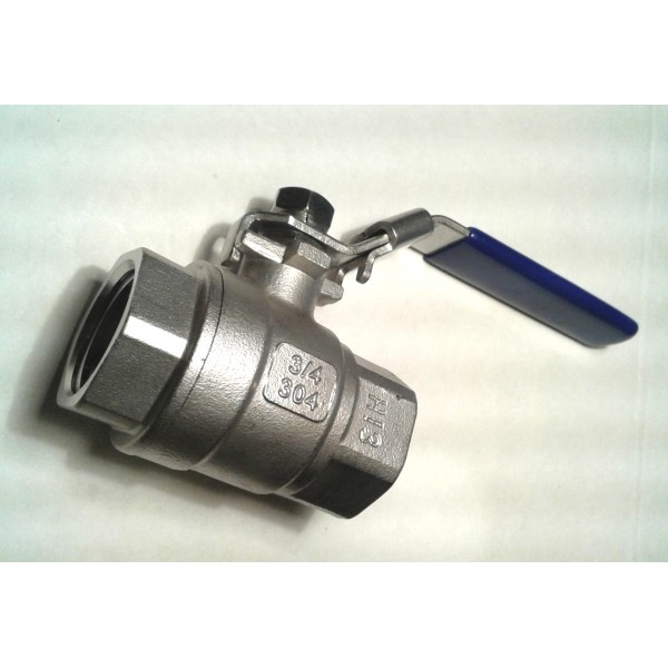 """3/4"""" Stainless steel Ball valve - small"""